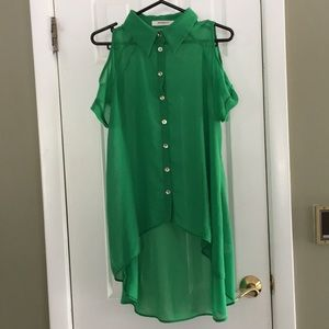 ANNABELLE COLD SHOULDER BLOUSE SIZE S